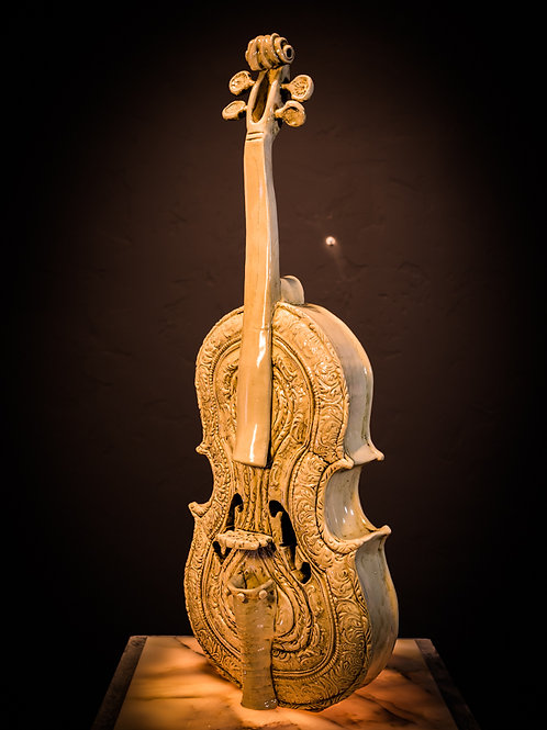 Ornate violin