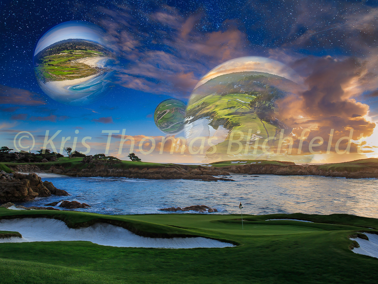 Golf worlds extra green-