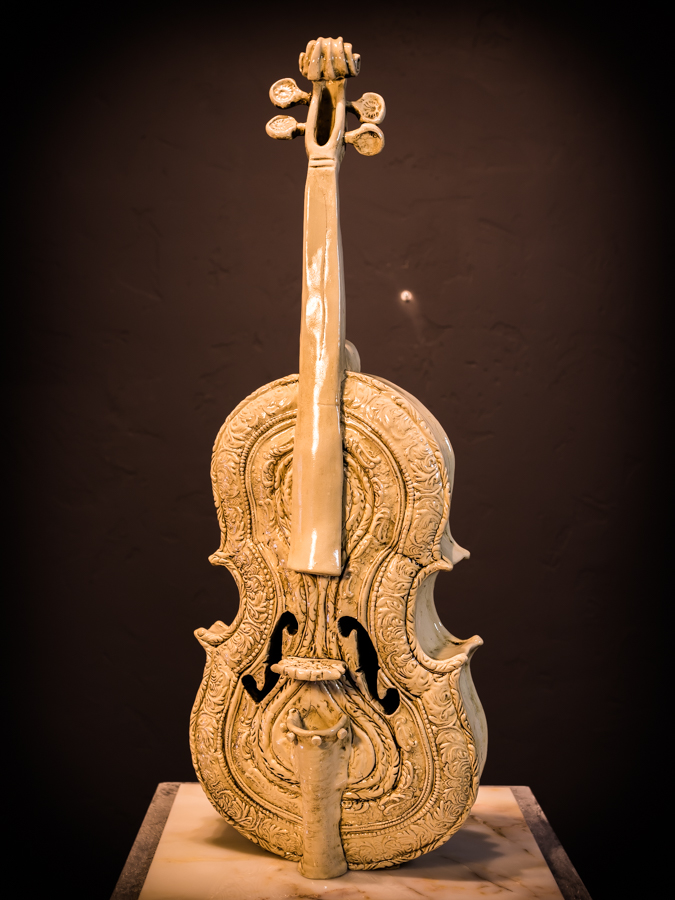 The ornate violin