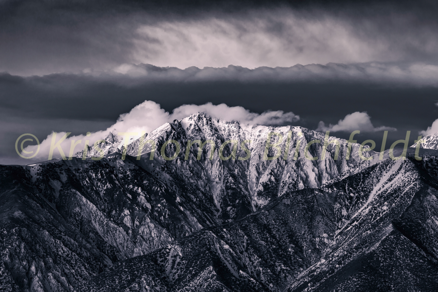 White Mountains b&w