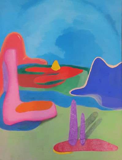 abstract landscape, colors, contemporary