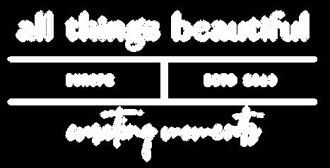All Things Beautiful_'Telegram' - White.