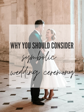 Symbolic wedding ceremony is the new black