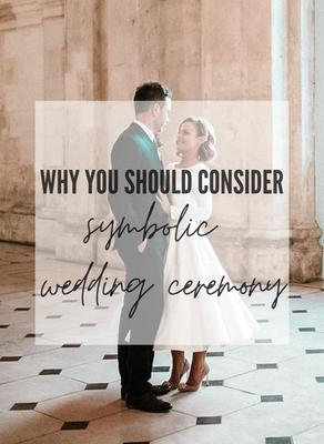Symbolic wedding ceremony is the new black