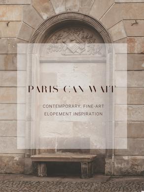 PARIS INSPIRED ELOPEMENT