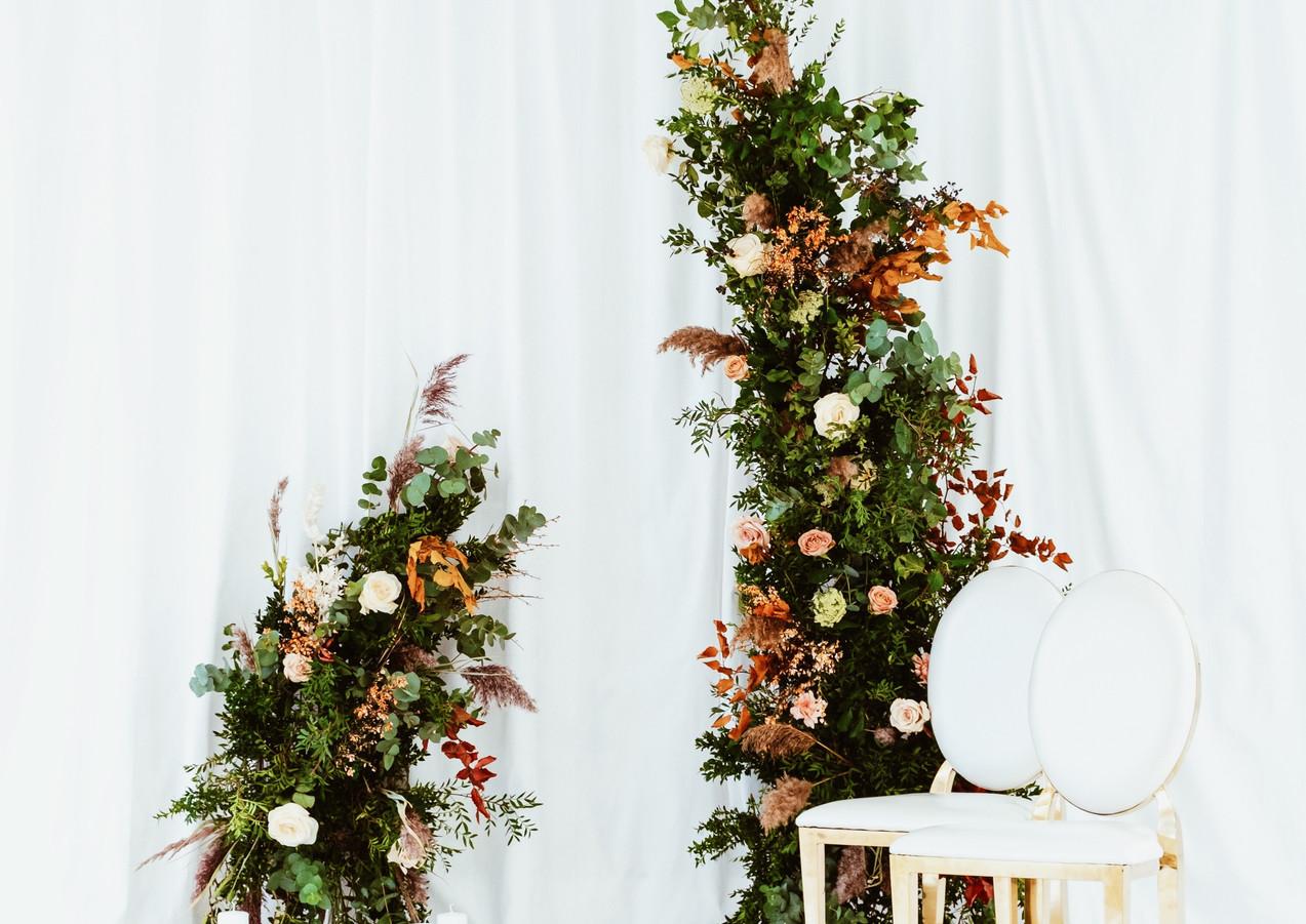 Photo backdrop wedding reception All Thi