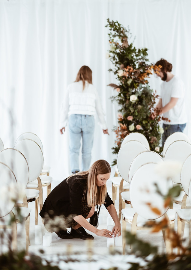 Magdalena (ATB) at work, with My Big Day team in the background, doing their magic