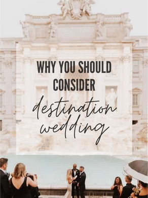Why choose a destination wedding?