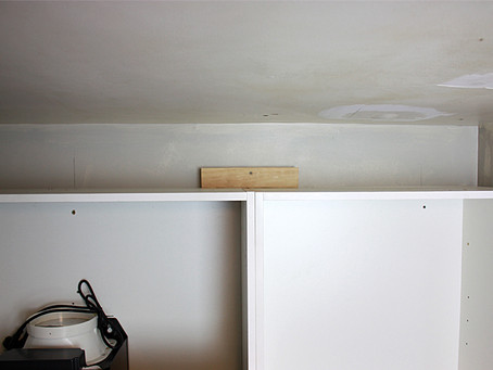 Kitchen DIY Tip: inaccessible wall studs