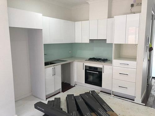 Polyurethane Gloss White Kitchen Cabinet Module No 24151