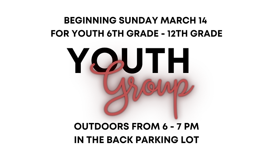 Youth Group March 2021