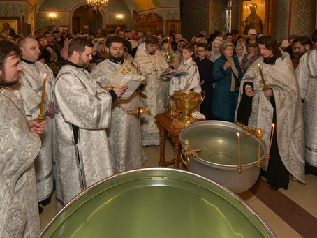Крещение Господне в Троицком храме г. Пушкино. Фотоотчет