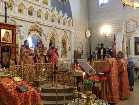 Престольный праздник в Александро-Невском храме  п. Ашукино.