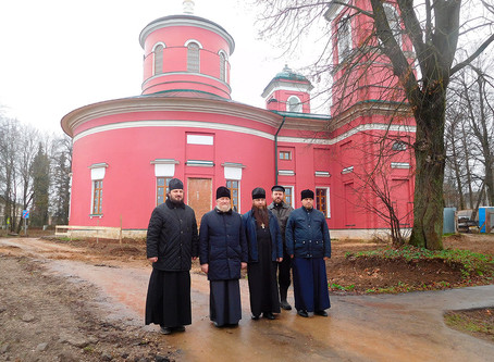 Рабочее совещание по дальнейшему восстановлению Знаменского храма села Ивановского Волоколамского ра