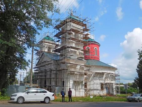 Восстановление Знаменского храма с. Ивановское Волоколамского р-на. фотоотчет