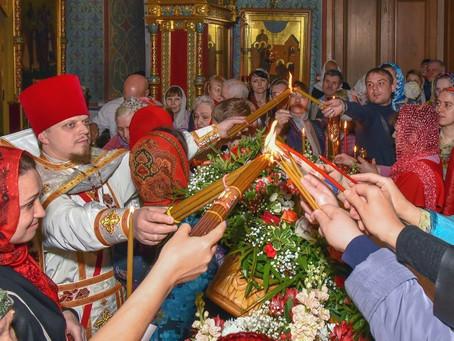Пасха  в Пушкинском благочинии