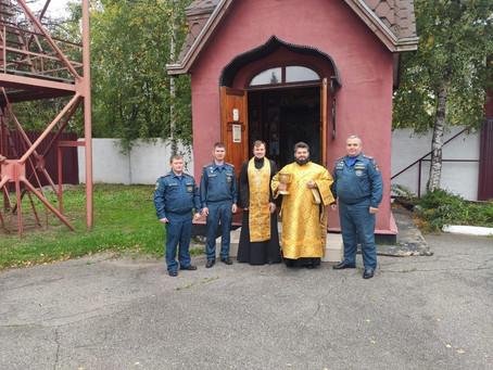 Молебен с участием личного состава территориальных органов МЧС России