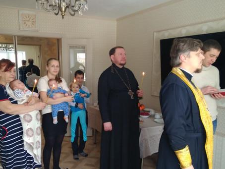 Освящение квартиры вдове диакона Святослава Дроздова