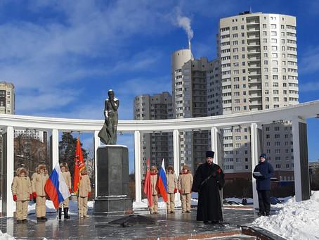 Памятная акция у мемориала «Скорбящая мать» в Пушкино