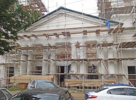 Восстановление Знаменского храма. Июль 2019
