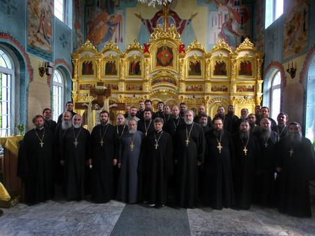Собрание духовенства и пастырский семинар в Никольском храме с. Тишково