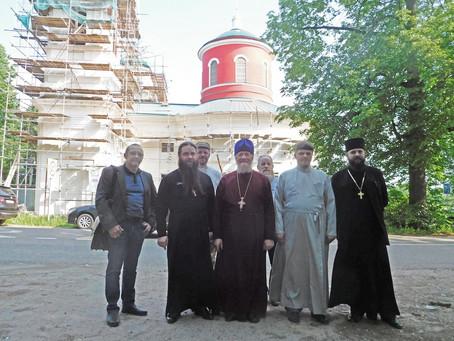 Восстановление Знаменского храма. Июнь 2019