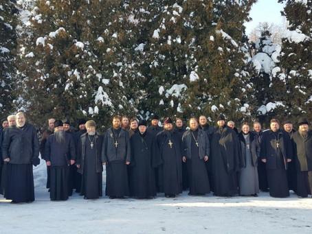 Собрание духовенства в Иоанно-Богословском храме с. Могильцы