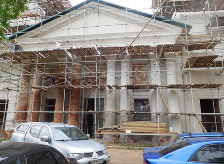 Восстановление Знаменского храма. Май 2019