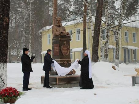 Открытие памятника святителю Луке (Войно-Ясенецкому) на территории Пушкинской больницы.