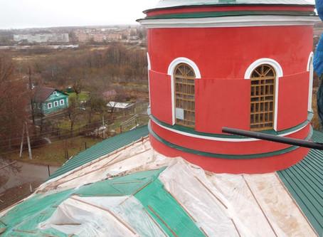 Восстановление Знаменского храма. Фотоотчет. Декабрь