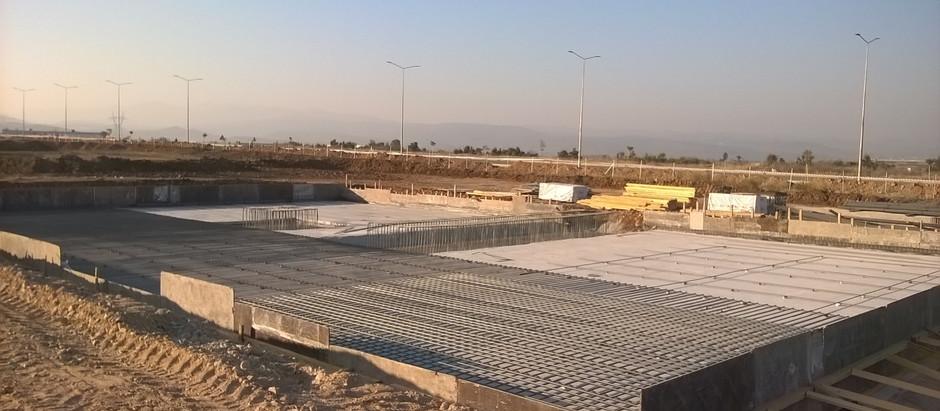 Construction works in Manisa,Turkey
