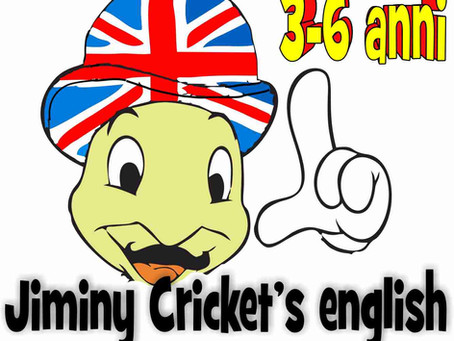 """Jiminy Cricket's english"" 3-6 anni"