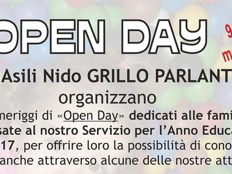 Tre pomeriggi speciali per gli Open Day 2016