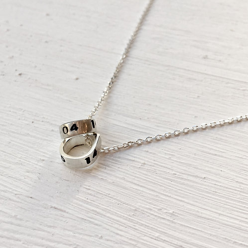 Personalised charm necklace 1, 2 or 3 charms.