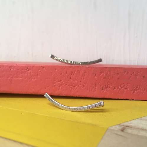 Curved Bar Crawler Earrings