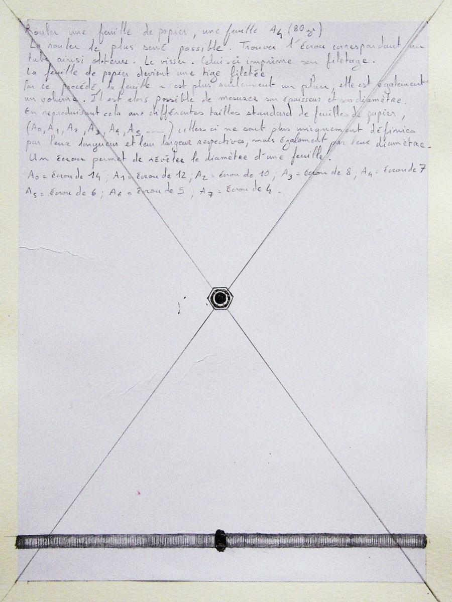 Le diamètre d'une feuille