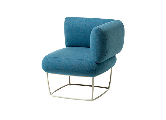 Bernard Light Blue Corner Small Armchair by La Cividina