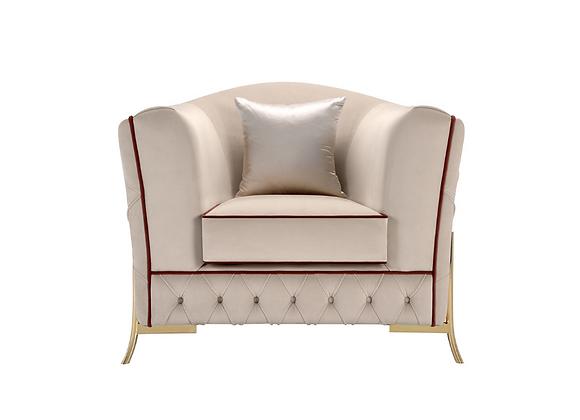 Nefele White Armchair by Domingo Salotti
