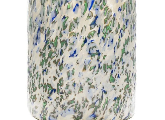 Macchia su Macchia Ivory Green and Blue Medium Vase by Stories of Italy