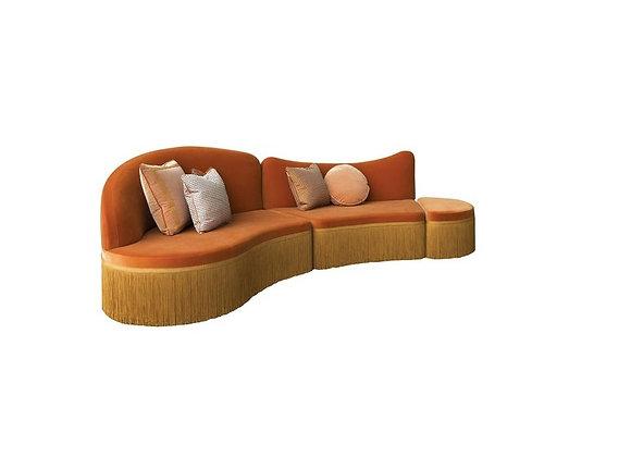 Wave Orange 3-Piece Sofa by Chiara Provasi