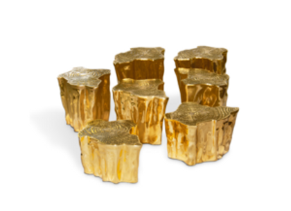 Eden Series Brass Table 7 by Boca Do Lobo