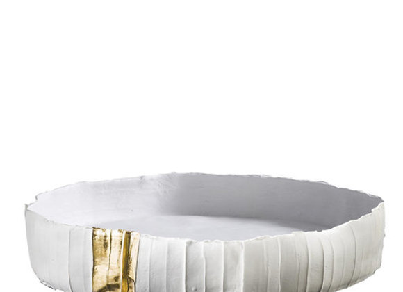 Low Ninfea White & Gold Centerpiece by Paola Paronetto