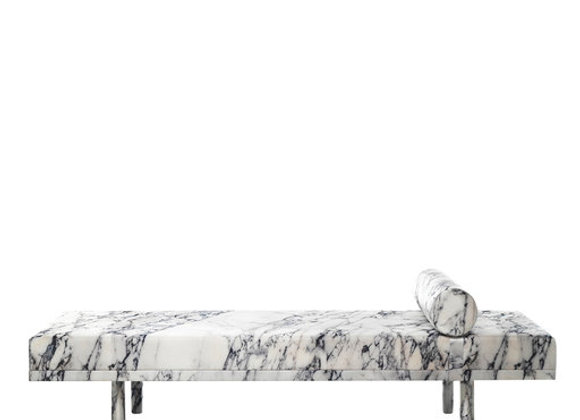 Mies Visits Carrara Marble Daybed by Balerie Italia