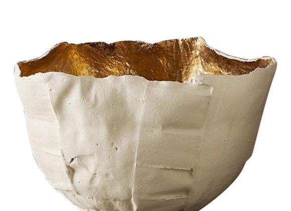 Cartocci Corteccia Sand & Gold Bowl by Paola Paronetto