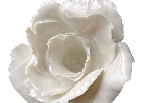 Set of 2 Rose Candle holder by White Porcelain Florence