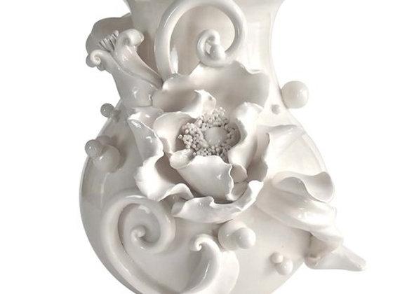 Moonlight Poppy Vase The White Symphony by Alberto Giampieri