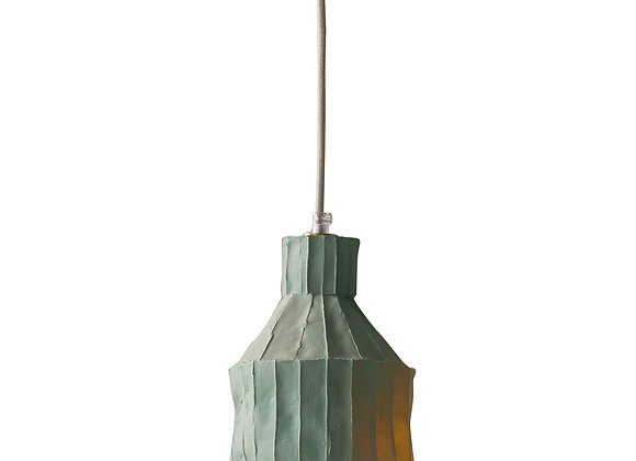 Sufi Moss Green Suspension Lamp by Paola Paronetto