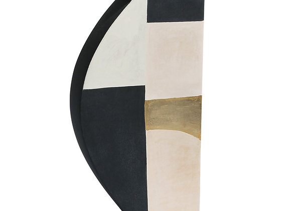 Medium Pacay Abstract Vase with Gold Leaf by Kose Milano