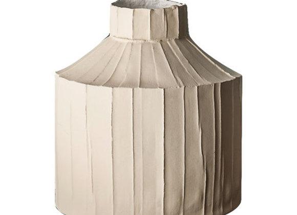 Cartocci Corteccia Fide Beige Vase by Paola Paronetto