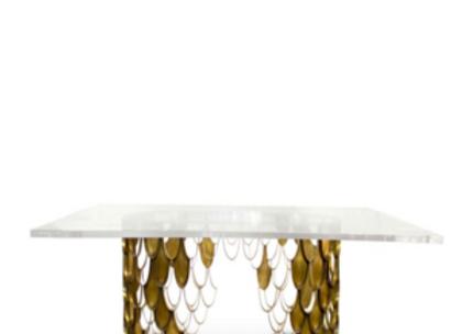 Koi II Dining Table by Brabbu